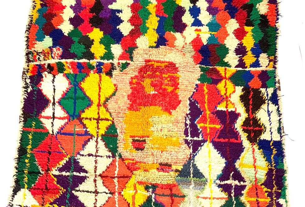 Colorful Boucharouite Rug