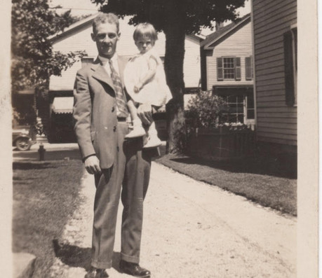 Carl Mosegard with his niece Lorraine Trombly