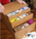 Large Craft Storage box. 1 small, 1 medium, & 1 large draw
