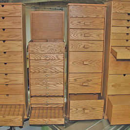 Collection of four craft storage. boxes