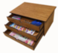 3 drawer craft box offered as a give away prize.