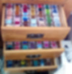 Three drawers full of Cross Stich Bobbins.