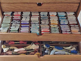 Cross stitch Bobbin & Skein storage drawer.