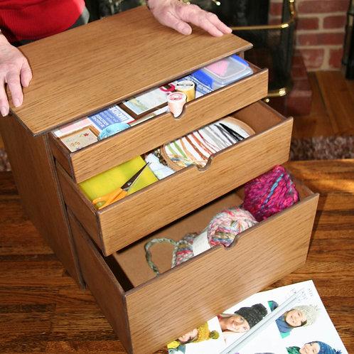 Small medium & large drawer craft storage box