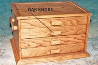 'Oak Knob' Drawer opening.