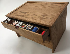 Fixed lid for wood craft storage box.