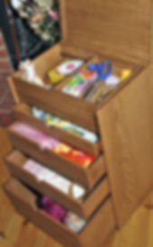 4 drawer wooden craftwork box
