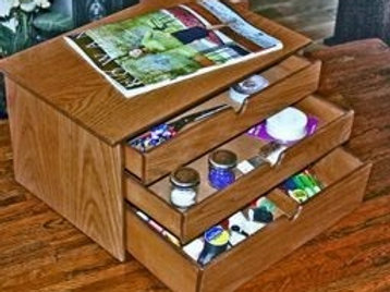 Two small & 1 medium drawer craft box