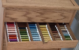 Craft storage drawer adapted for Gutermann Cotton reel storage