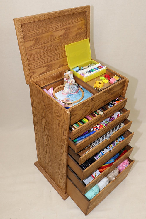 Sewing, Knitting & craft Wooden storage box.