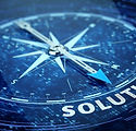Business solution concept - Compass need