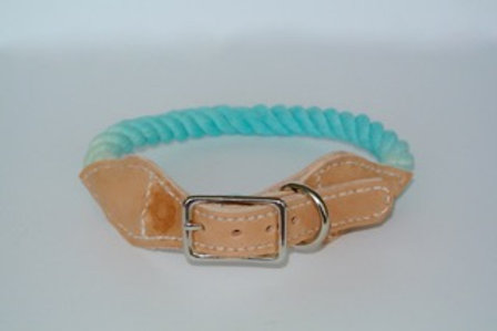 Blue Raspberry and Light Brown Leather XS