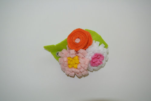 Tri Colour Bouquet Pink and Yellow