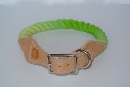 Key Lime and Light Brown Leather XS