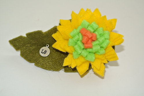 Yellow and Lime Zinnia