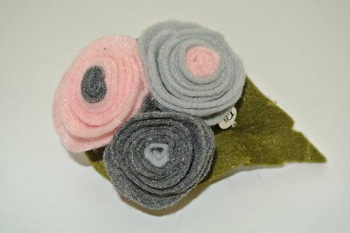 Tri Colour Bouquet Grey