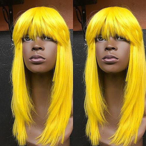yellow layed with bang
