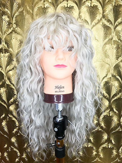 icy blonde full head loose curl