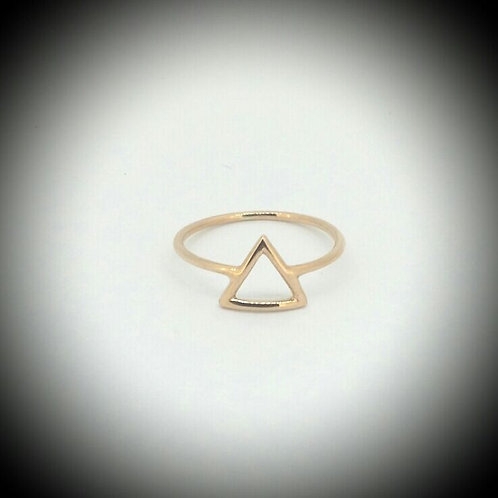 Triangle Yellow Gold Ring