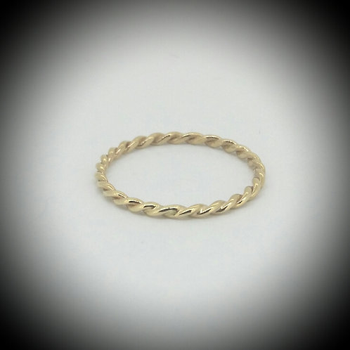 Petite Rope Yellow Gold Ring
