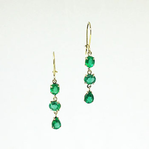 Mozambique Emerald Drop Earrings