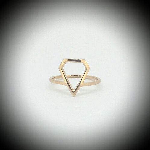 Diamond Shaped Rose Gold Ring