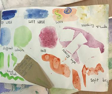 Watercolour sketchbooks... week one