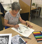 One of our artists at the Wildlife taster session