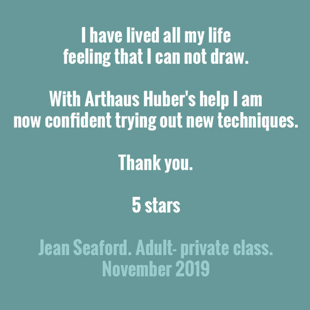 From one of our adult artists- so heartwarming. Thank you. REVIEW- J Seaford