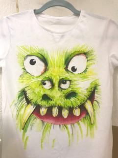 Monster T-shirt design.