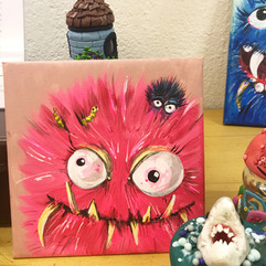 Pink Monster Canvas