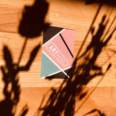 ARThaus Huber, Logo design by Corinna Farrow.