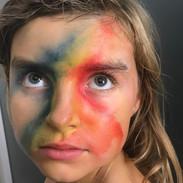Watercolour facepaint.