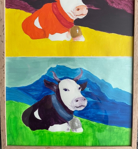 Alpine cow in recline