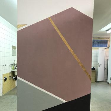 Art Studio wall, by Esther and Judith. Kunstatelierwand von Esther und Judith