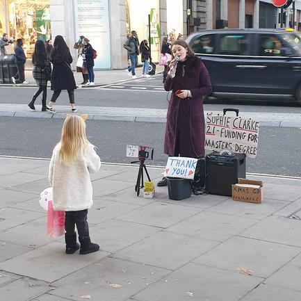 Busking on Oxford Street