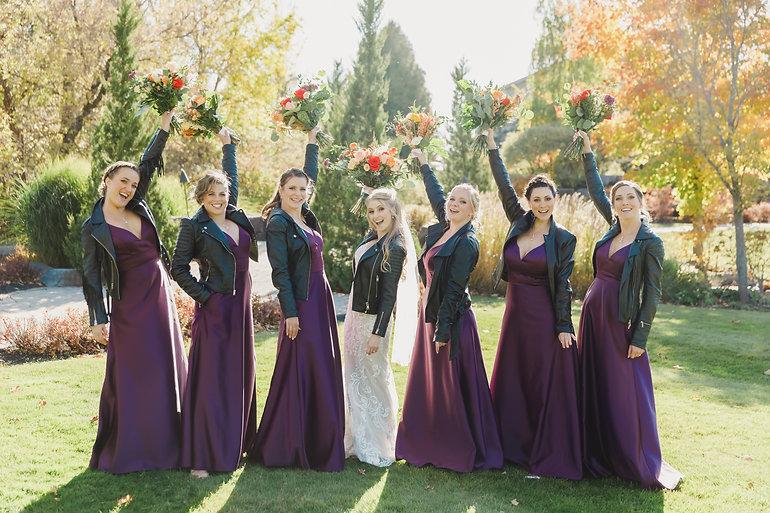 Bride, Bridesmaids, Makeup, Happy, Wedding, Burlington