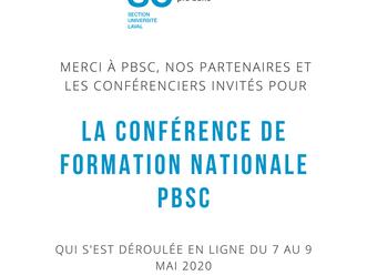Conférence de formation nationale PBSC