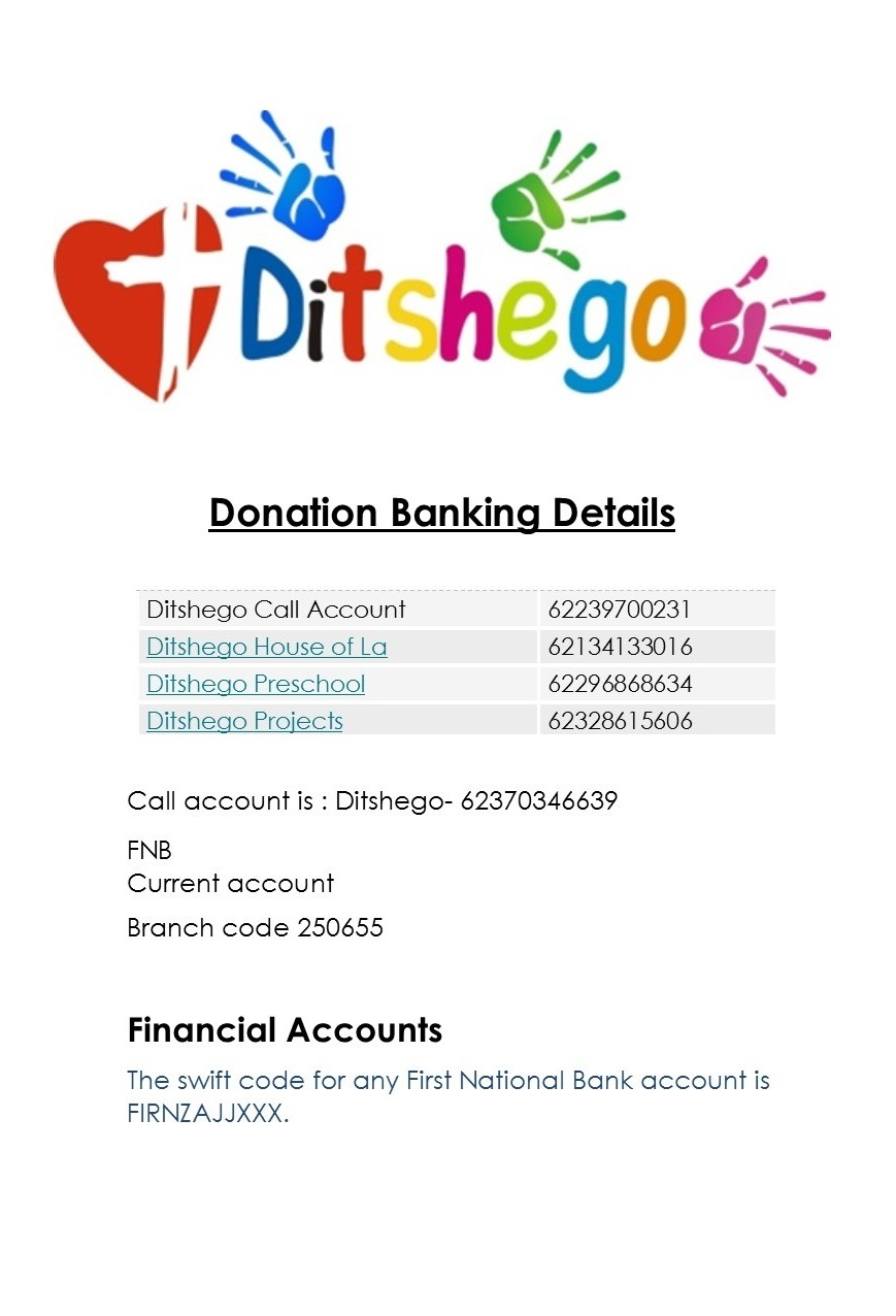 donation banking details