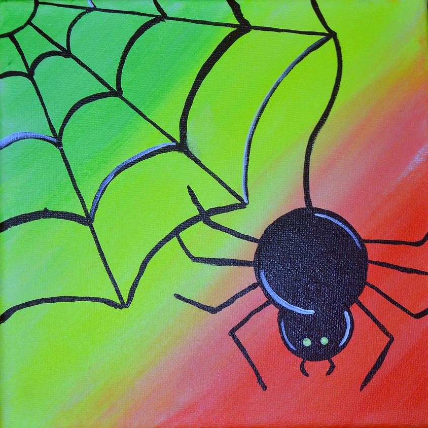 FREE BLACKLIGHT CLASS! Spooktacular Spider (1)