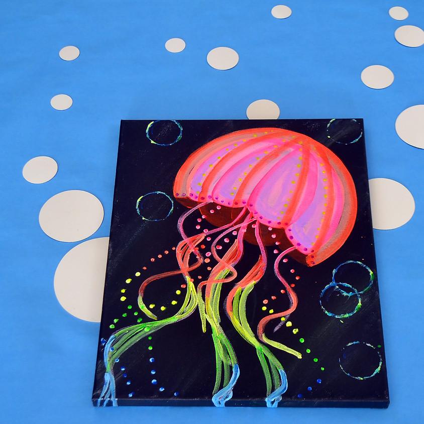Glowy the Jellyfish- Blacklight Class!