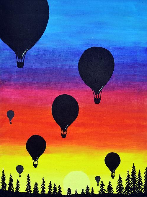 Virtual Paint Class- Sunset Balloon Ride