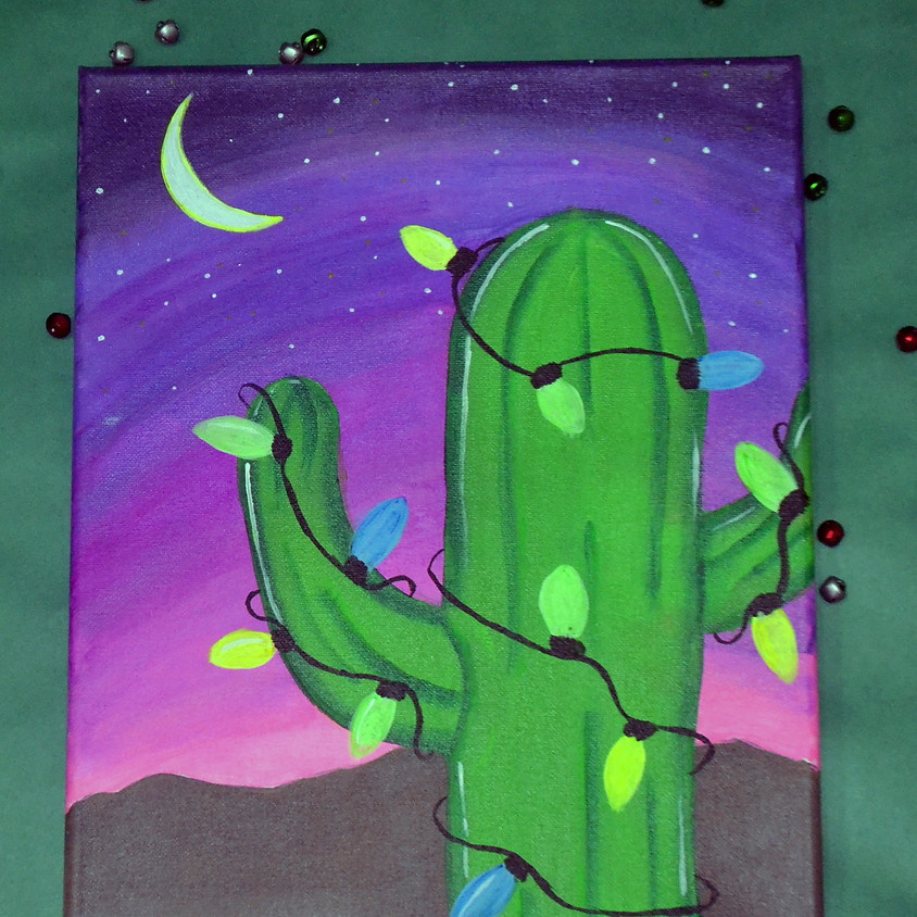 Christmas Cactus- BLACKLIGHT CLASS!