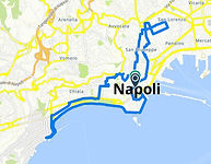 Percorso bike tour Mangiando Napoli con irentbike.it