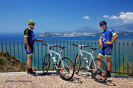 Campi Flegrei bike tour Boat&Bike in the gulf of Naples, by irentbike.com
