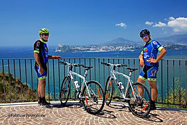 Campi Flegrei bike tour Boat&Bike in the gulf of Naples, by irentbike.com
