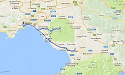 Route bike tours Vesuvius and Pompeii with irentbike.com
