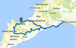 """Route bike tour """"Tour of the two gulfs"""", Sorrento and Amalfi, with irentbike.com"""