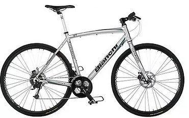 Bicicletta trekking bike Bianchi utilizzata per il tour dei Campi Flegrei, con irentbike.it