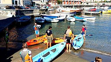 kayak tour at the Riva Fiorita marina in Posillipo Naples, by irentbike.com